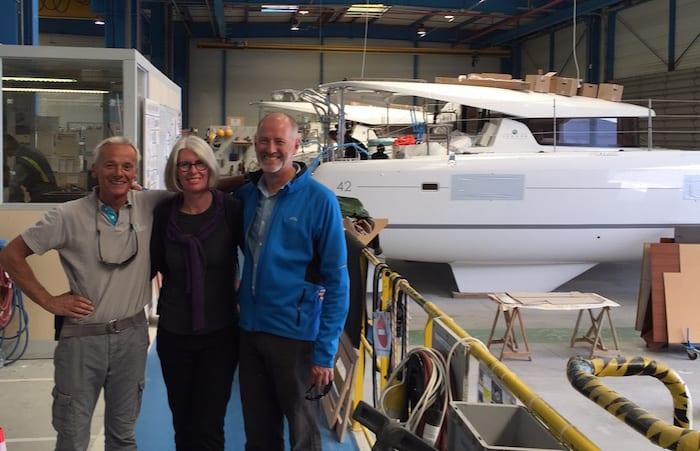 TMG visit to Lagoon 42 Production Line