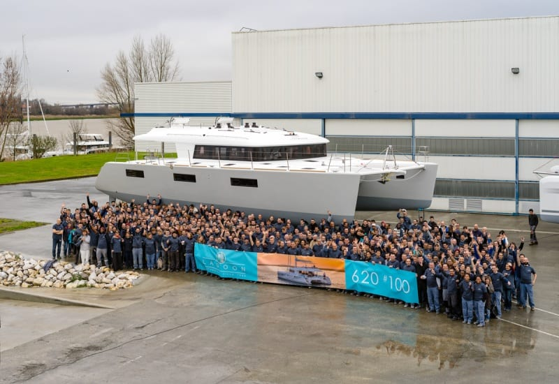 The 100th Lagoon 620 has been launched