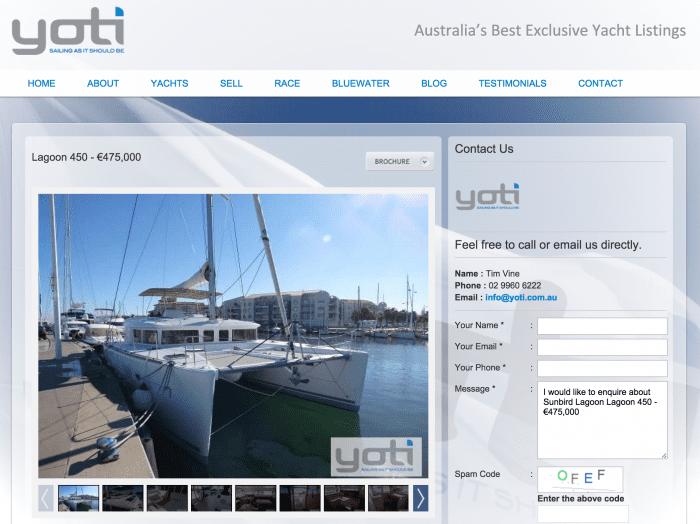 YOTI becomes the Hub of Multihull Sales