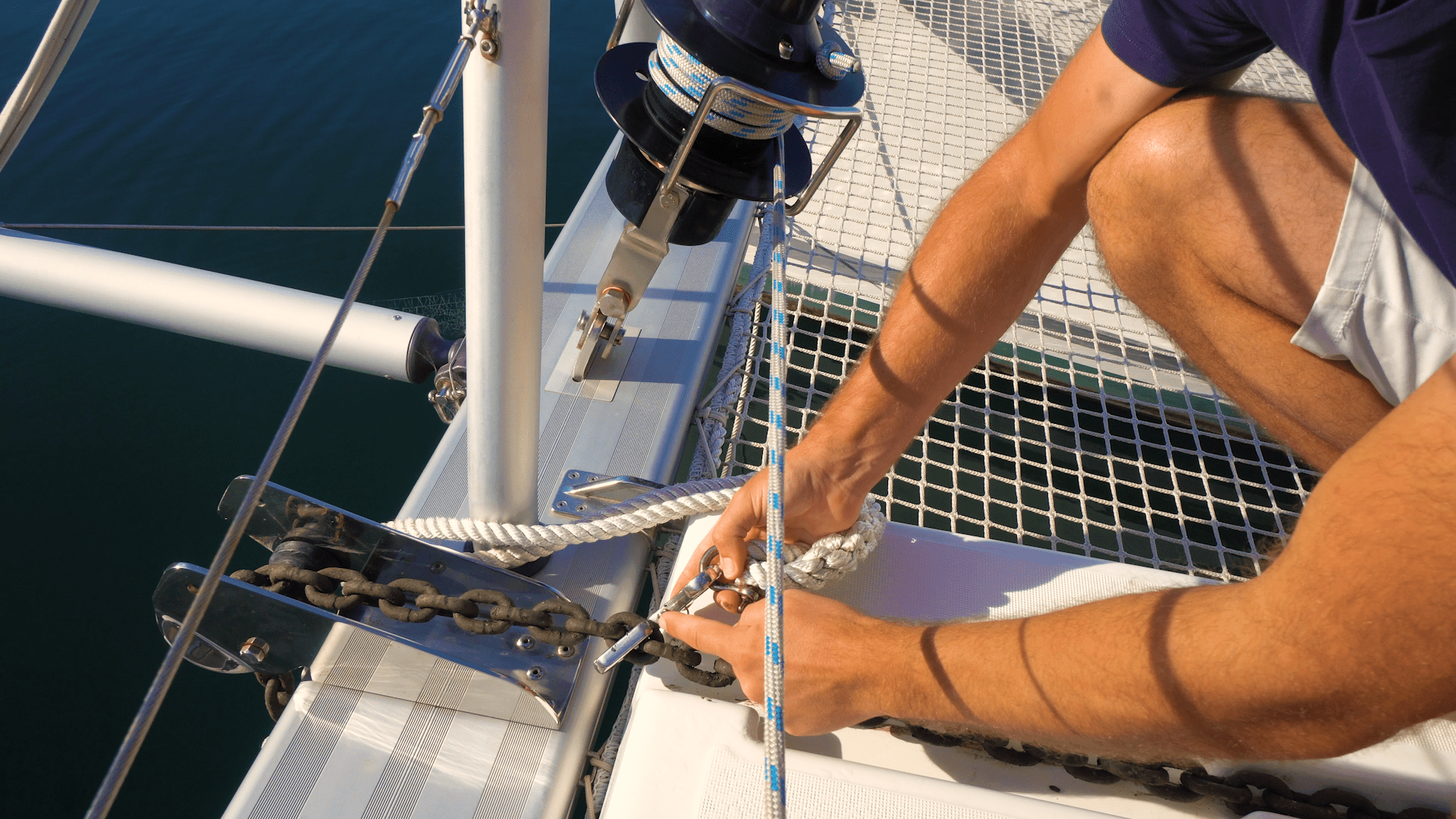 How to Anchor and Set Up an Anchor Bridle