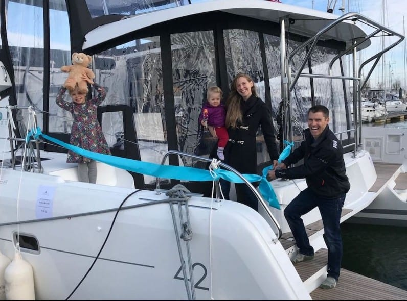 The Jones Family takes delivery of their new 42