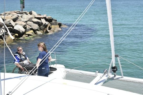 Lagoon 42 modified for quadriplegic sailor
